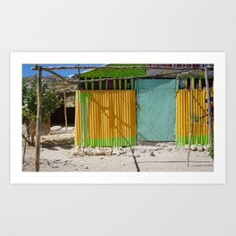 Yellow Hut Art Print