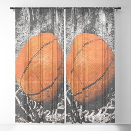 The basketball Sheer Curtain