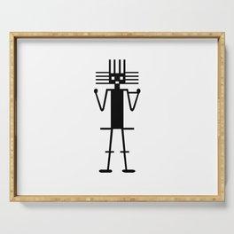 atacama giant geoglyph Serving Tray