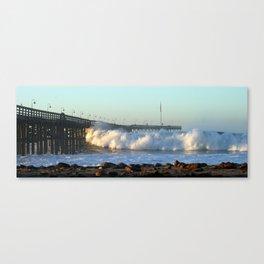 Ventura Ocean Wave Storm Pier Canvas Print