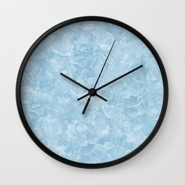 Blue Water Marble Texture Wall Clock