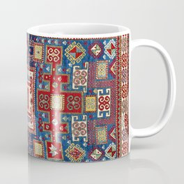 Karachov Kazak Caucasian Antique Carpet Coffee Mug