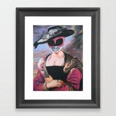 Portrait Of A Pink Ranger Framed Art Print