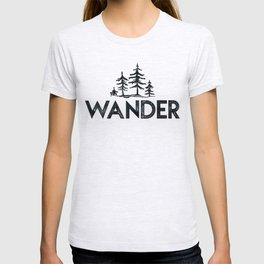 WANDER Forest Trees Black and White T-shirt