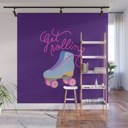 Get Rolling (Purple Background) Wall Mural