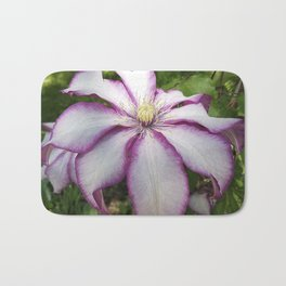 Clematis - Stunning two-tone flowers Bath Mat