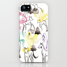 Pegasus in the forest iPhone Case