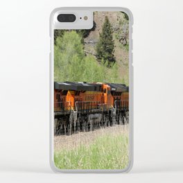 Three In A Row For Heavy Hauling Clear iPhone Case