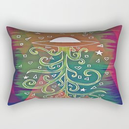 Abstract UFO Rectangular Pillow