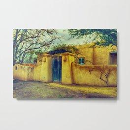 Adobe house La Mesilla New Mexico Metal Print