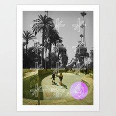 GEO SKATERS Art Print