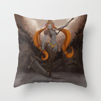 ellie goulding Throw Pillows featuring Ellie by Chelles