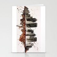 nyc Stationery Cards featuring NYC by Rosalia Mendoza