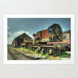 The Old Steam Crane Art Print