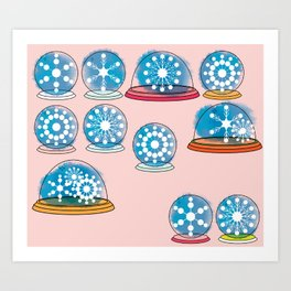 Snowglobes Art Print