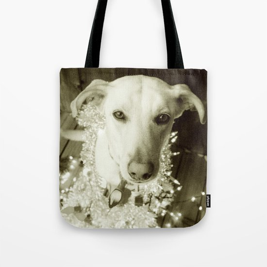 It's Beginning to Look a Lot Like Christmas B&W Tote Bag