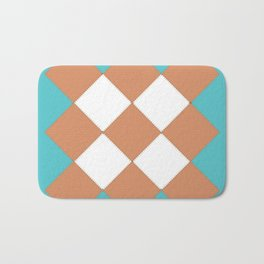 """Geometic Print """"Quilted"""" Bath Mat"""