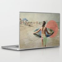 surfer Laptop & iPad Skins featuring Surfer  by Mary Kilbreath