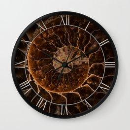 Brown Ammonite Wall Clock