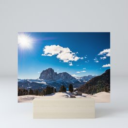 Italian Dolomites ready for winter season Mini Art Print
