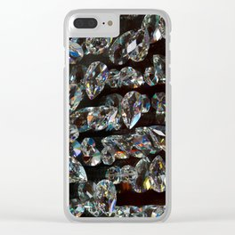 Precious crystals Clear iPhone Case
