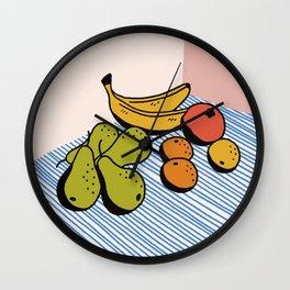 Fruit Still Life Wall Clock