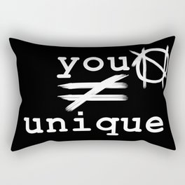 you do not equal unique (white) Rectangular Pillow