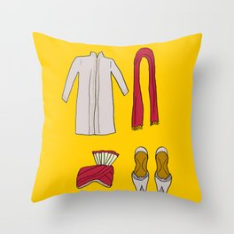 His indian outfit Throw Pillow