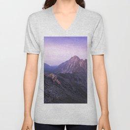 Colorful mountains Unisex V-Neck