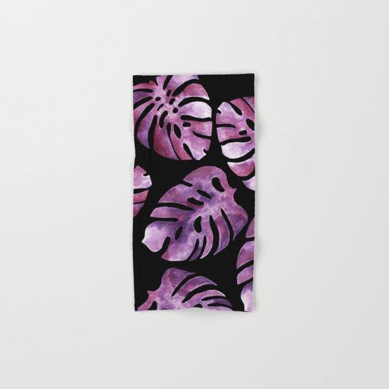 Monstera Purple Hand & Bath Towel