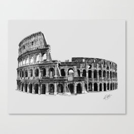 Colosseum Drawing Canvas Print