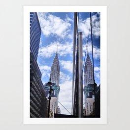 Chrysler Building Reflections in Midtown Art Print