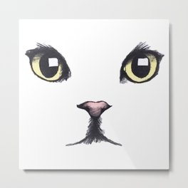 CAT--FACE Metal Print