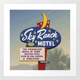 sky ranch motel Art Print