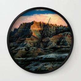 Dragon Mountains Wall Clock