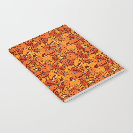 Halloween pumpkin pattern Notebook