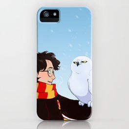 Harry and Hedwig iPhone Case