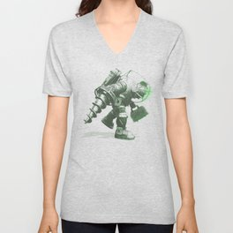 Daddy's Coming Home (Green) Unisex V-Neck