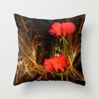 passion Throw Pillows featuring Passion by LudaNayvelt