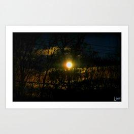 Electric Moonlight Art Print