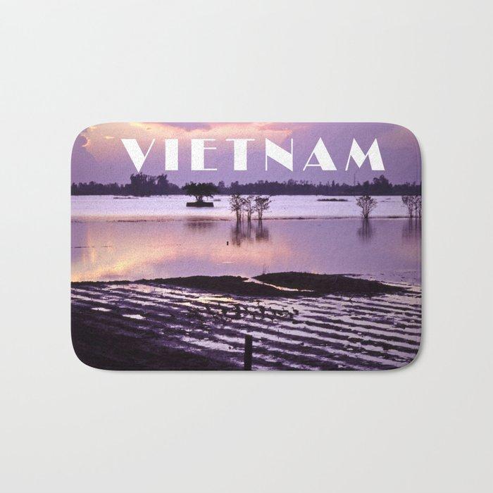MEKONGDELTA in VIETNAM Bath Mat