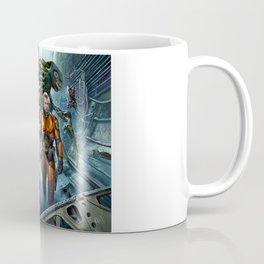 Astronaut and aliens Coffee Mug