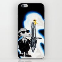 snoopy iPhone & iPod Skins featuring MIB Snoopy by Karmaela.com