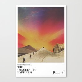 The conquest of happiness - Literary Art series Canvas Print