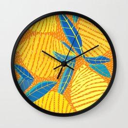 Striped Lemons - Whimsical Fruit Design Wall Clock