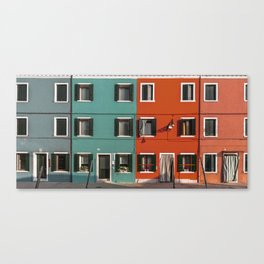 Burano colorful houses // lifestyle and traveling photography Canvas Print