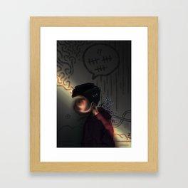 lightly does it Framed Art Print