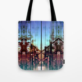Flipped On - Abstract Geometry Photo Tote Bag