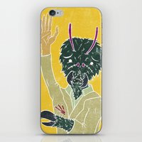 tim shumate iPhone & iPod Skins featuring Tim McFly by Fhil Navarro