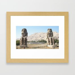 The Clossi of memnon at Luxor, Egypt, 3 Framed Art Print